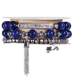 Soul Stacks - Enjoy the Journey Blue Lapis Bracelet Set