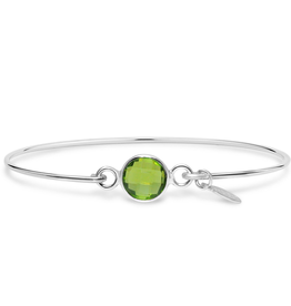 Stia 8mm Birthstone Bracelet - Peridot Hydro/August