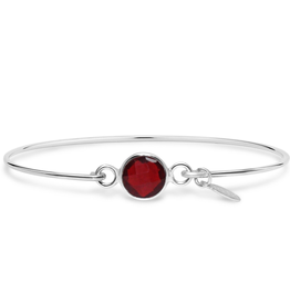 Stia 8mm Birthstone Bracelet - Garnet Hydro/January