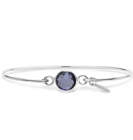 Stia 8mm Birthstone Bracelet - Amethyst/February
