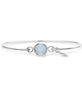 Stia 8mm Birthstone Bracelet - Clear Quartz/April