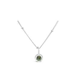 Stia Jewelry CZ Bezel Necklace - Peridot/August