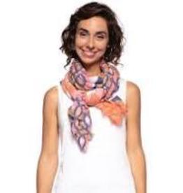Rock Flower Paper Gia Pink Oblong Silk Scarf