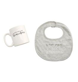 Mud Pie Grandma Bib and Mug Gift Set