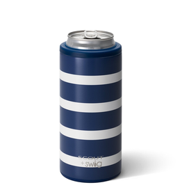 Swig 12oz Skinny Can Cooler-Nantucket Navy by Scout
