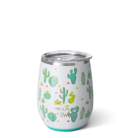 Swig Stemless Wine Cup-Cactus Makes Perfect by Scou