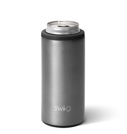 Swig 12oz Skinny Can Cooler-Graphite