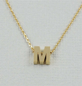 Cool and Interesting - Gold Block Initial M