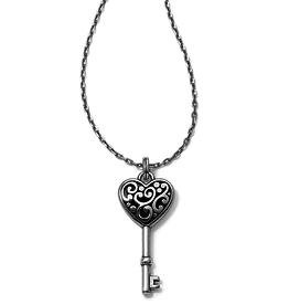 Brighton Brighton Contempo Heart Key Necklace