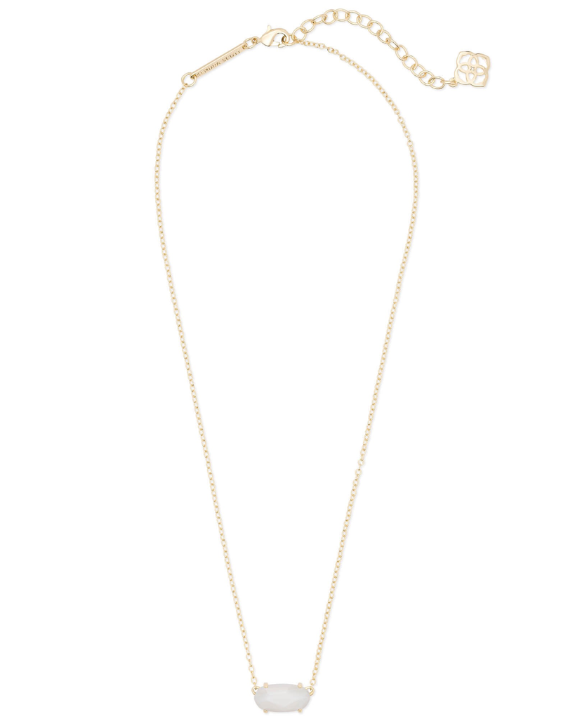 Kendra Scott Ever Necklace Gold in White Pearl