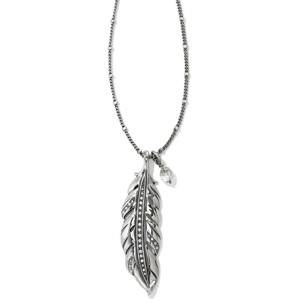 Brighton Brighton Contempo Ice Feather Convertible Revrsible Necklace
