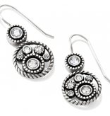 Brighton Crystal Halo French Wire Earrings