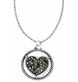 Brighton Brighton Crystal Rocks Heart Necklace