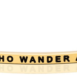 """MantraBand - """"Not All Who Wander Are Lost"""" Yellow Gold"""