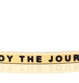 """MantraBand - """"Enjoy the Journey"""" - Gold"""