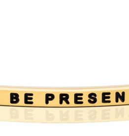 """MantraBand - """"Be Present"""" Yellow Gold"""