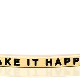 """Mantraband - """"Make It Happen"""" - Gold"""
