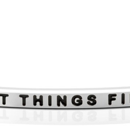 """Mantraband - """"First Things First"""" - Silver"""
