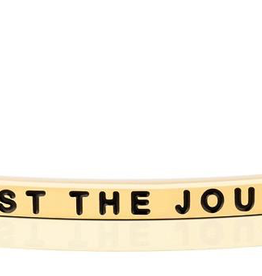 """MantraBand - """"Trust the Journey"""" Yellow Gold"""