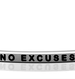 "Mantraband - ""No Excuses"" - Silver"