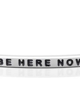 """Mantraband - """"Be Here Now"""" Silver"""