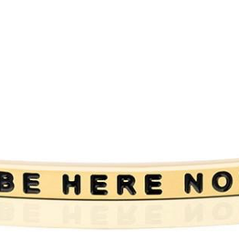 """Mantraband - """"Be Here Now"""" Gold"""