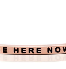 """Mantraband - """"Be Here Now"""" Rose Gold"""