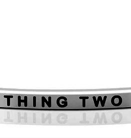 "Mantraband - ""Thing 2"" Silver"