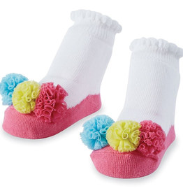 Mud Pie Multi Color Mesh Puff Socks
