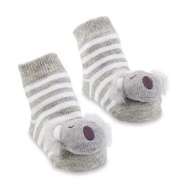 Mud Pie Koala Rattle Toe Socks
