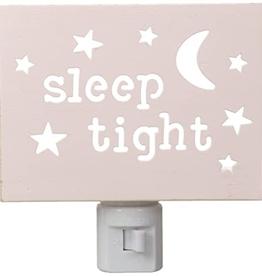 Mud Pie Pink Cut-Out Wood Night Light