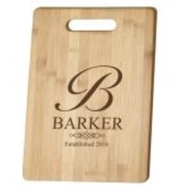 Personalized Bamboo Cutting Board w/ Handle