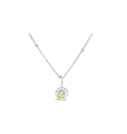 Stia Jewelry CZ Bezel Necklace - Citrine/November