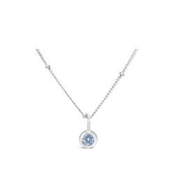 Stia Jewelry CZ Bezel Necklace - Clear Diamond/April