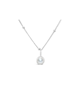 Stia Jewelry CZ Bezel Necklace - Pearl/June