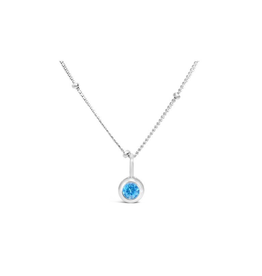 Stia Jewelry CZ Bezel Necklace - Zircon/December
