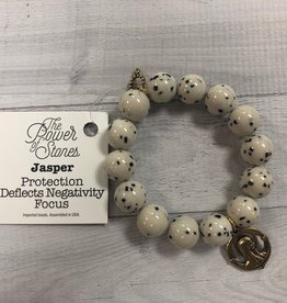 PowerBeads by Jen - Jasper with Blessed Mother Pendant