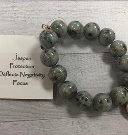 PowerBeads by Jen - Jasper with Evil Eye Medal