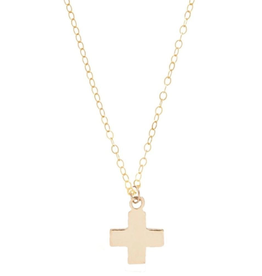 "enewton - 16"" Necklace Gold Signature Cross Gold Charm"