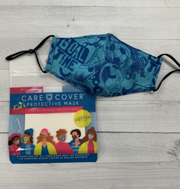 Kid's Care Cover Mask - Blue Graphic