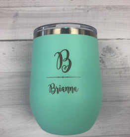 P Graham Dunn 12 oz Personalized Tumbler - Teal