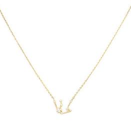 Initial Reaction Constellation Necklace - Aquarius/Gold