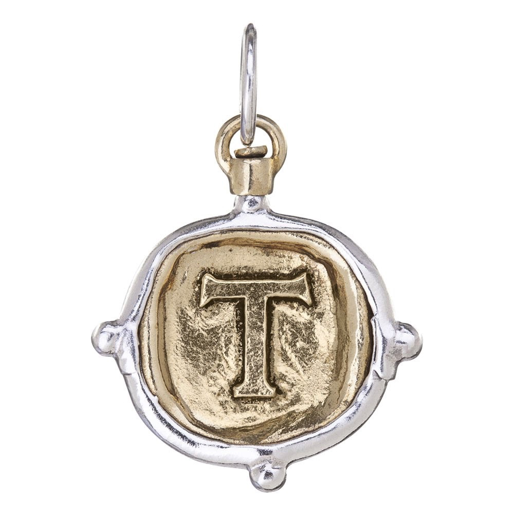 Waxing Poetic Voyager Insignia Charm-Brass/Silver-T