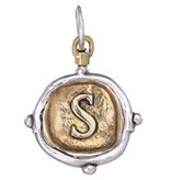 Waxing Poetic Voyager Insignia Charm-Brass/Silver-S