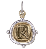 Waxing Poetic Voyager Insignia Charm-Brass/Silver-R