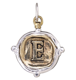 Waxing Poetic Voyager Insignia Charm-Brass/Silver-E