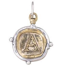 Waxing Poetic Voyager Insignia Charm-Brass/Silver-A