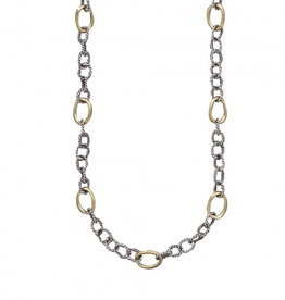 Waxing Poetic Twisted Link w/ Brass Rings - 30""