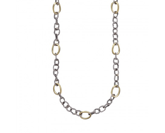 """Waxing Poetic Twisted Link w/ Brass Rings - 30"""""""
