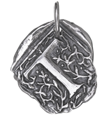 Waxing Poetic Square Insignia Charm- Silver- Letter T